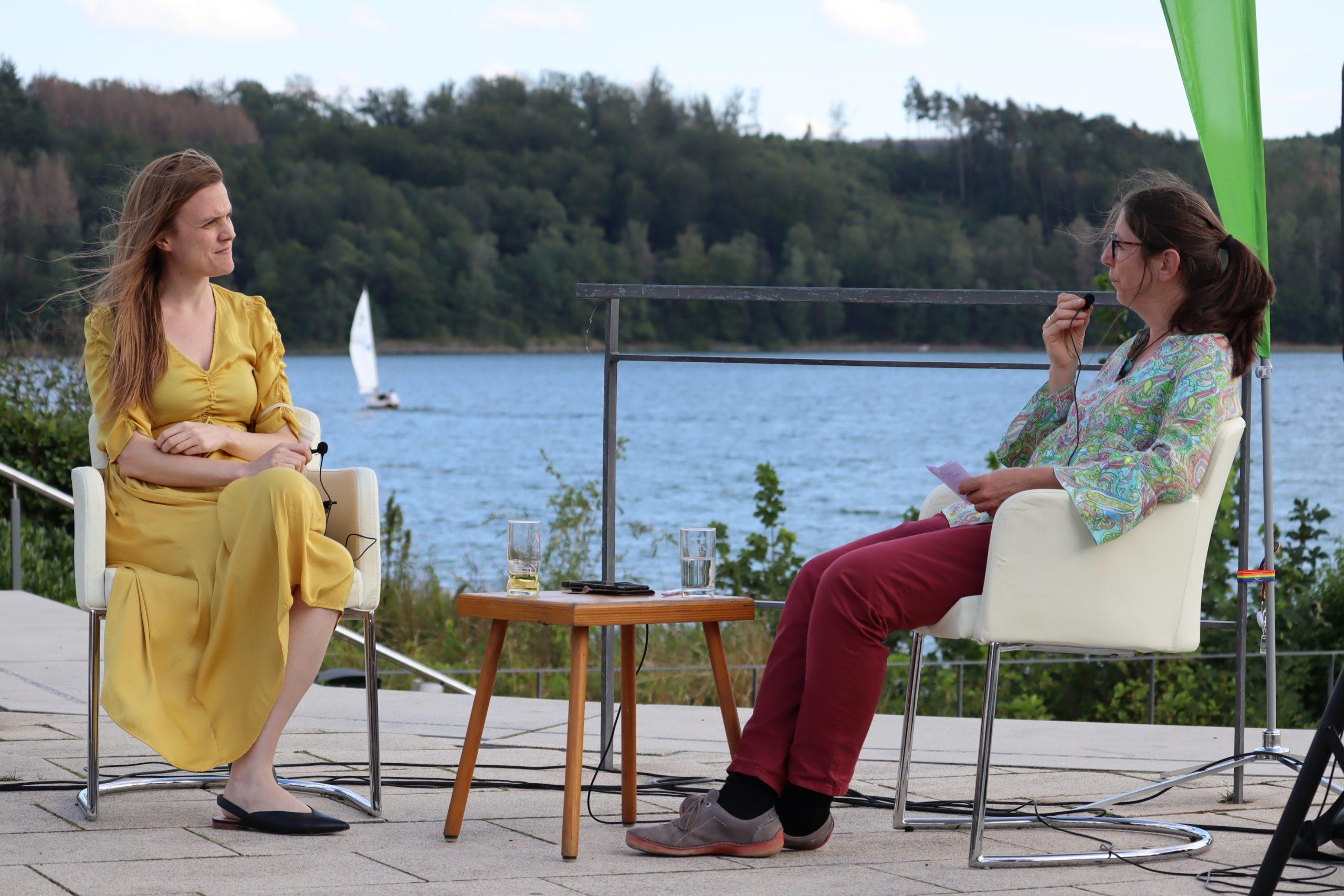 Bundestagskandidatin Maria Tillmann trifft Europaabgeordnete Terry Reintke